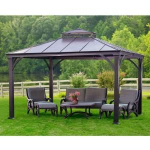 Jackson 12 Ft X 10 Ft Hardtop Gazebo L Gz401pco 2 The Home Depot Patio Gazebo Hardtop Gazebo Pergola Patio