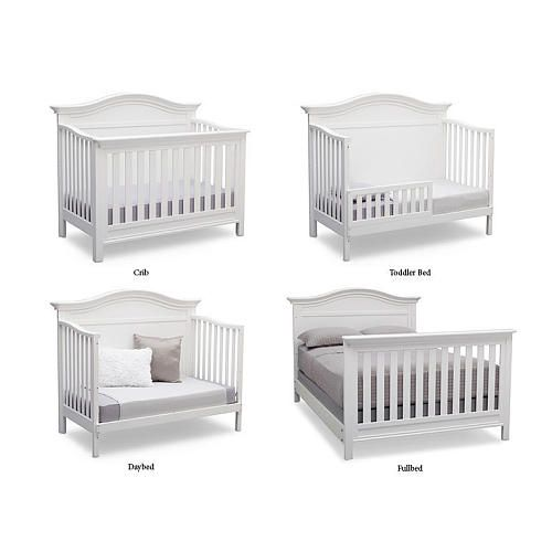 Serta Bethpage 4 In 1 Convertible Crib Bianca Babies R Us