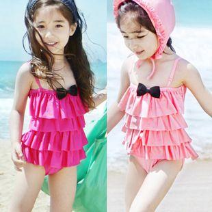 7f048e90ea2a girls swimwear 2-3-4-5-6-7-year-old korean striped children-piece ...