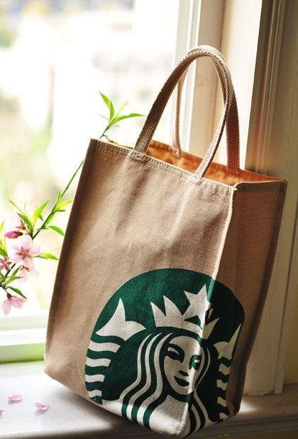 Natural Canvas Tote Bag Starbucks