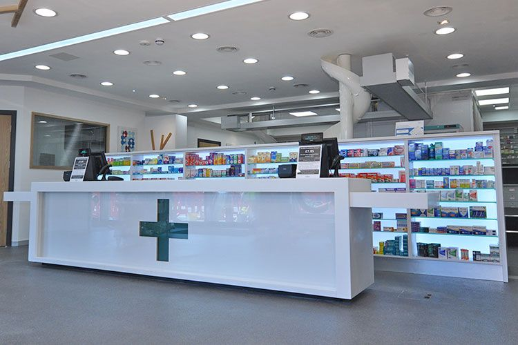 Rapeed Design offers a professional service   Pharmacy Design Specialists    Evolving Pharmacy Design. Pharmacy Shelf   Shelves for your counter area   Rapeed   Pharmacy