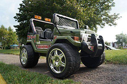 Ride On Kids Electric Car Jeep Wrangler Model S618 Big Green Two