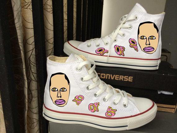 ab324d05673 Custom Converse Sneakers 100% Hand Paint earl oddfuture