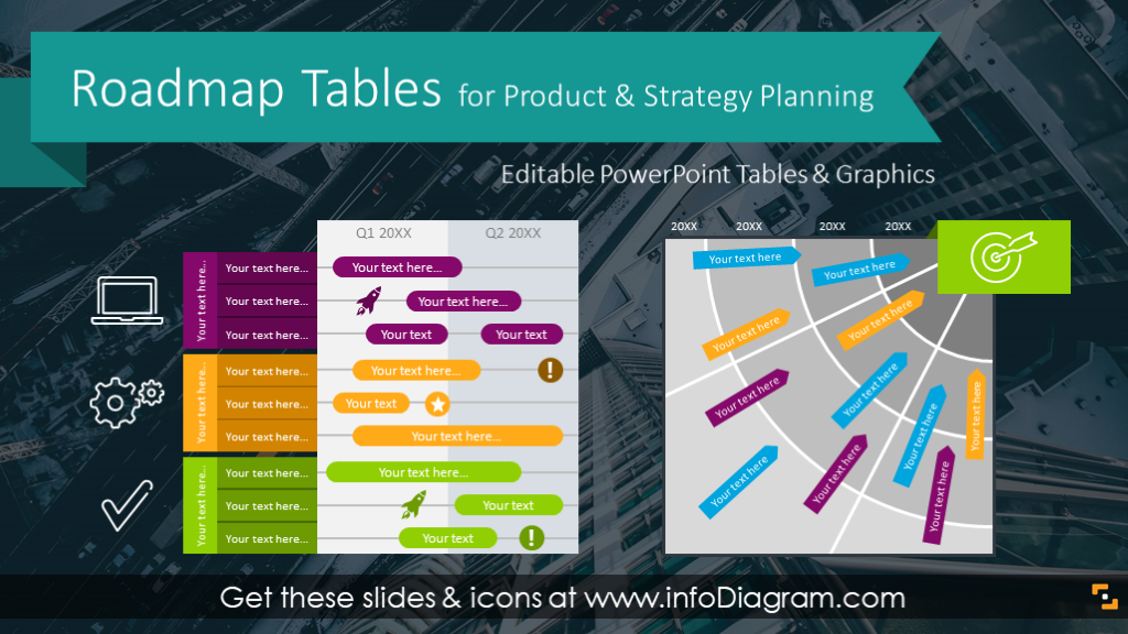 48 Product Roadmap Templates Powerpoint Icons Of Strategy Plan Timeline Charts Make Business Infographic Map Technology Roadmap