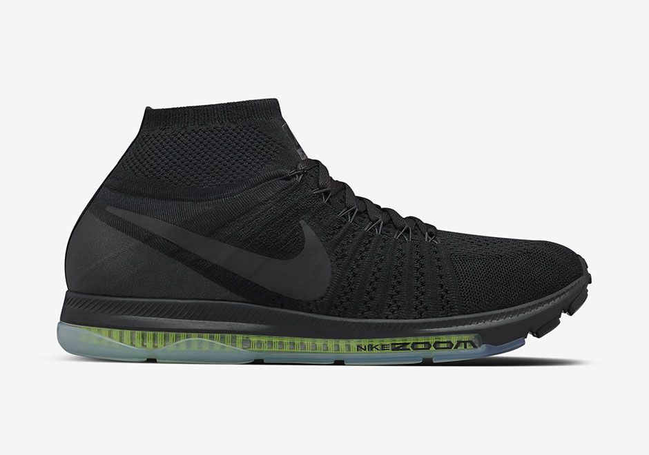 The Stealthy Nike Zoom All Out Flyknit In Triple Black