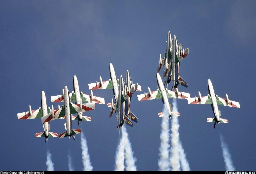 Frecce tricolori air show in the UK
