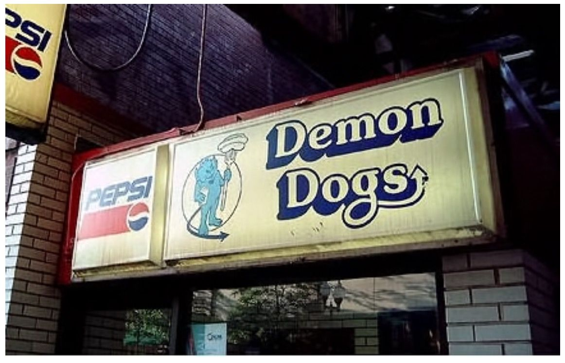 Demon Dogs Was Under The Fullerton L Station Chicago Demon