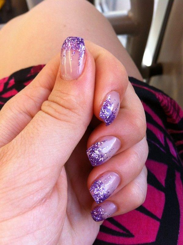 Sparkly Purple Nail Art Purple Nail Art Purple Nail Designs Purple Glitter Nails