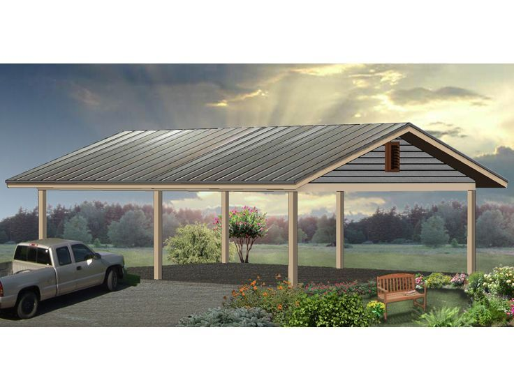 006g 0043 Over Sized Carport Plan For Boat Storage 24 X32 Carport Plans Carport Carport Designs