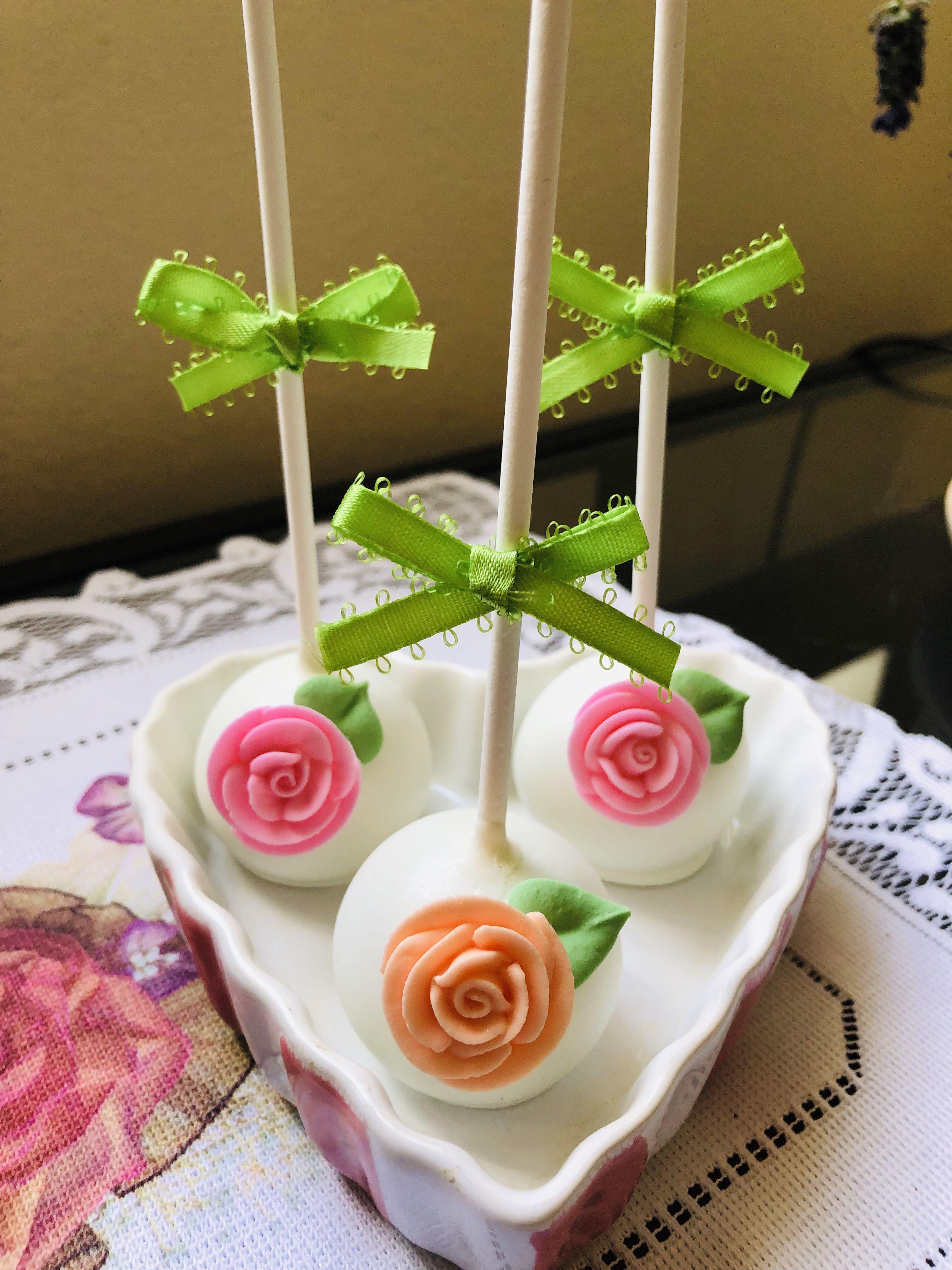 Mothers day cake pops rose cake pops rose cake french