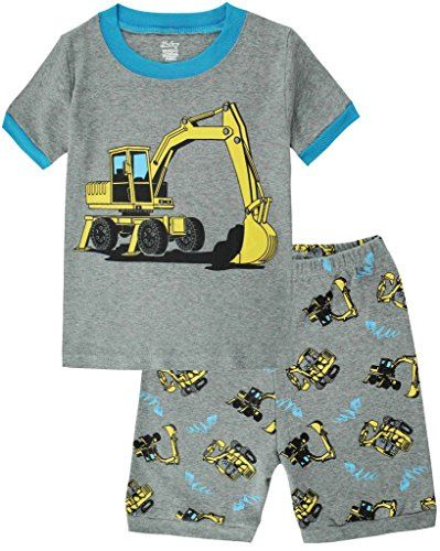 Boys Pajamas Truck Cotton Kids Clothes Short Sets Size 2Y-7Y ...