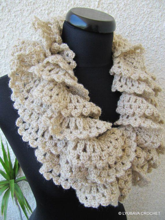 Crochet Ruffle Scarf Pattern Easy Crochet Scarf Diy Scarf Crochet