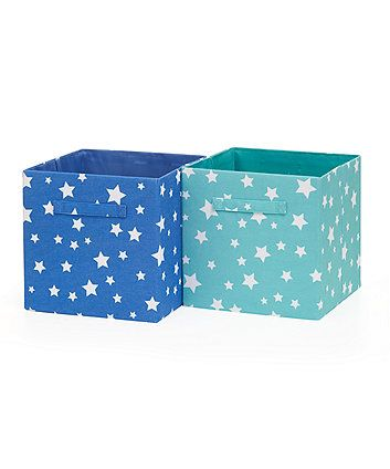 Merveilleux Two Soft Storage Cubes   Blue/Green