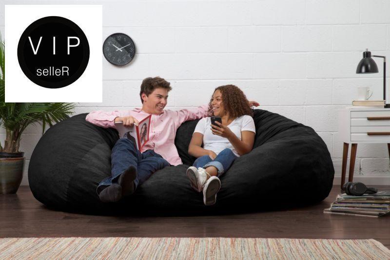 Fantastic Giant Bean Bag Chair Memory Foam Filled 6 Ft Adult Soft Cozy Dailytribune Chair Design For Home Dailytribuneorg