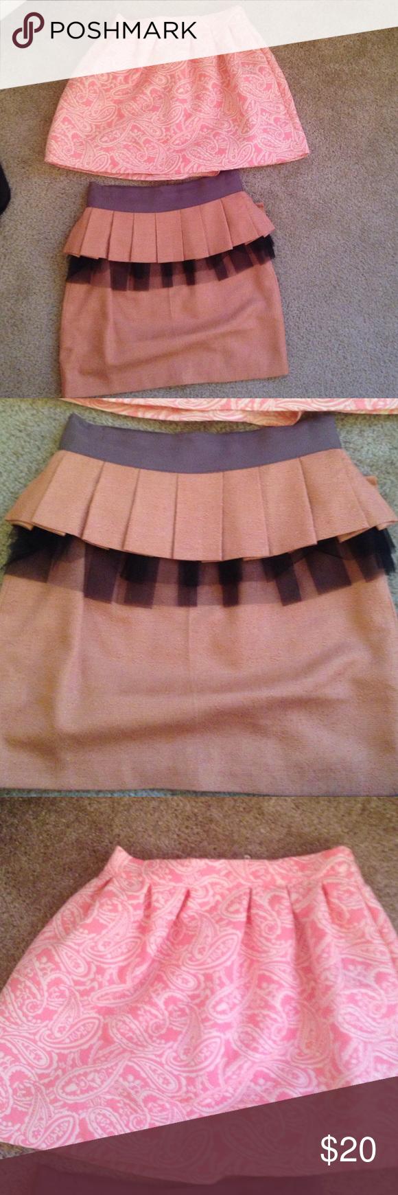 Forever 21 skirt and love culture Forever 21 skirt love culture skirt used great shape super cute (lot of 2) Forever 21 Skirts Mini