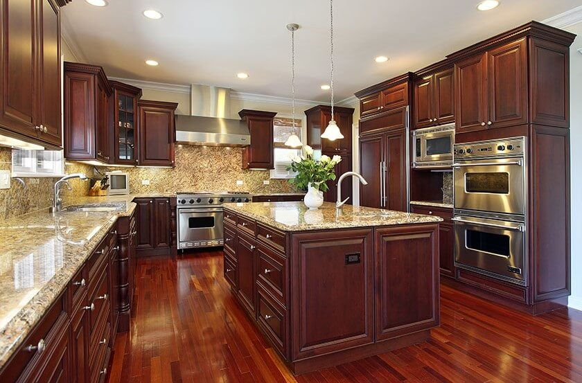 25+ Best Cherry Kitchen Cabinets Ideas on Internet | Kitchen ...