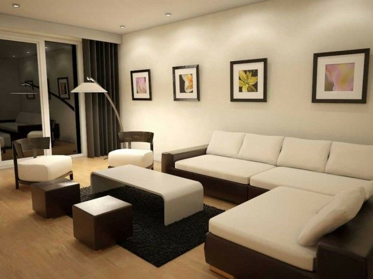 sala de estar moderna de estilo minimalista 100 ideas ideas de como decorar una sala. Black Bedroom Furniture Sets. Home Design Ideas