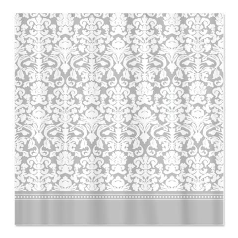 grey damask shower curtain - for bathroom with grey, white and, Hause ideen