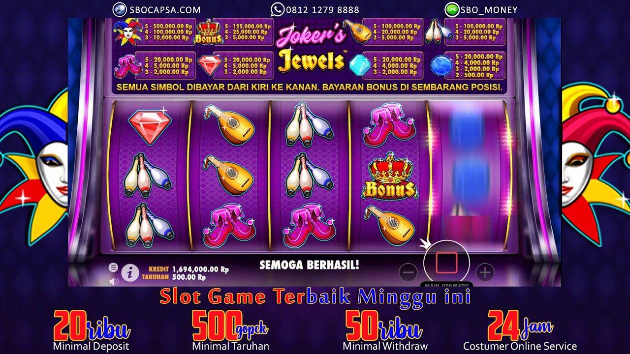 Slot Game Jackpot Modal Seribu Joker's Jewel Joker, Video
