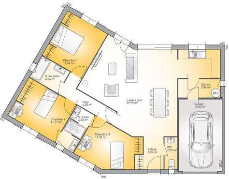 Plan maison neuve à construire - Maisons France Confort Performa 96