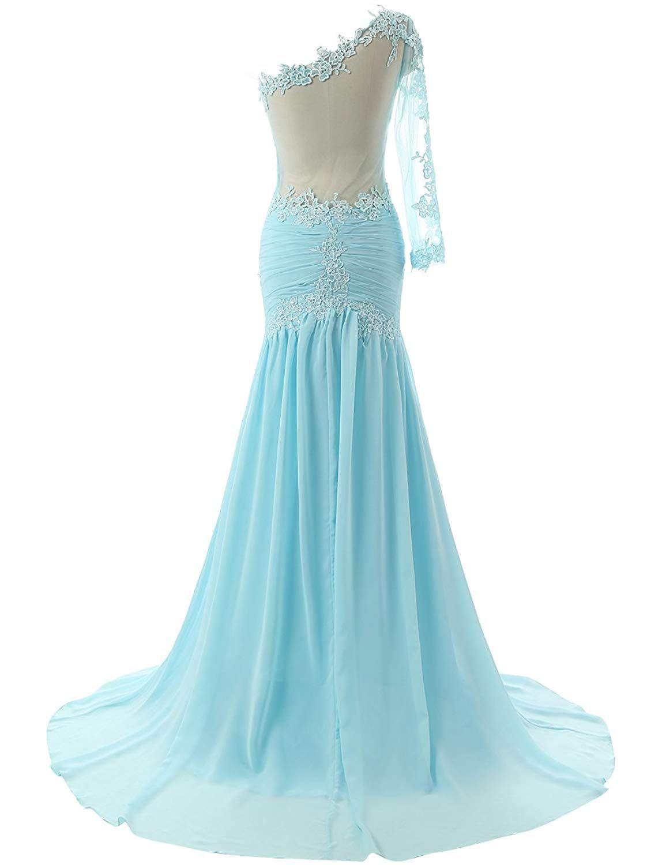 Jaeden womenus one shoulder sexy mermaid evening prom dress party