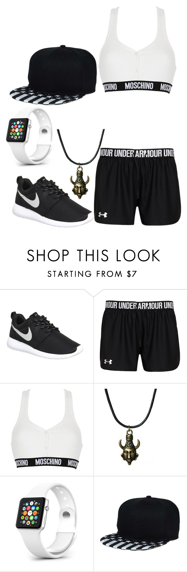 """Untitled #353"" by lean-mean-dean on Polyvore featuring NIKE, Moschino, women's clothing, women, female, woman, misses and juniors"