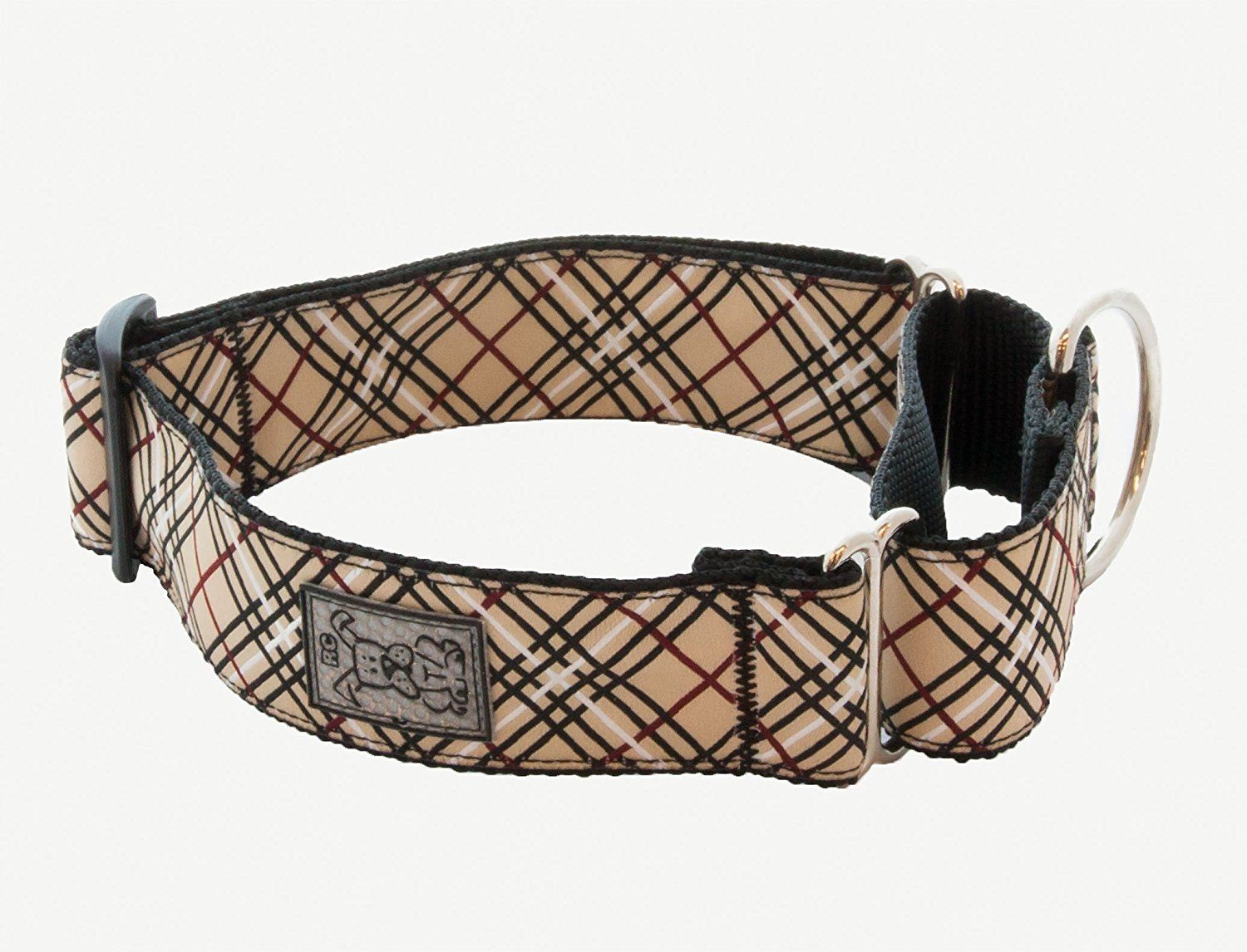 Rc Pet Products 1 1 2 Inch All Webbing Martingale Dog Collar Tan