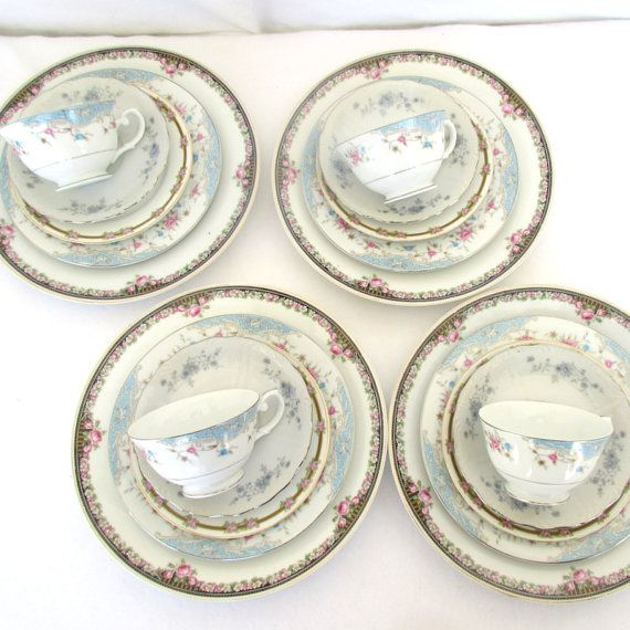Dinnerware  sc 1 st  Pinterest & Mismatched China Set Four Place Settings 20 Piece by DesignWise4U ...