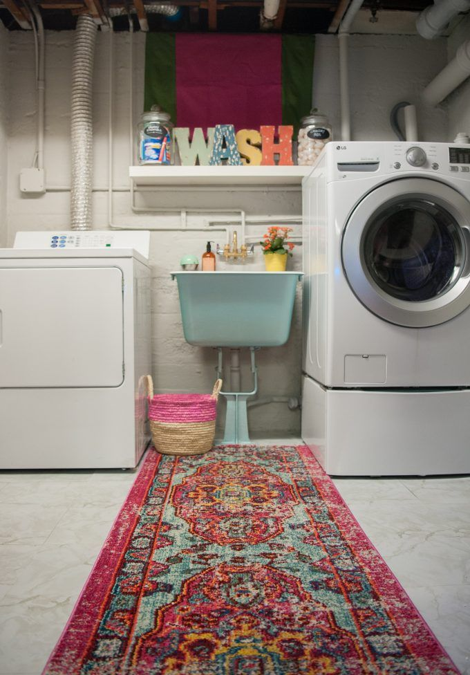 Photo of Sogar Waschräume im Keller können hübsch aussehen! Coole Keller Waschküche Makeover …