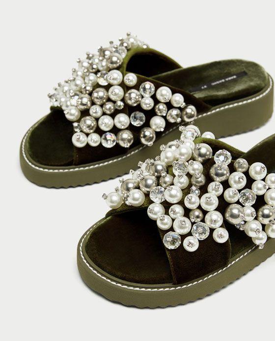 BEADING from Zara   Beaded shoes