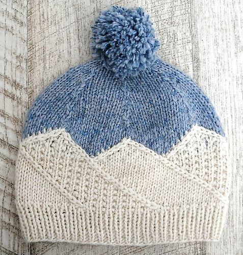 Photo of NataliaGracheva's Snow Mountains Hat – Knitting Instructions, Easy Knitting, Str …