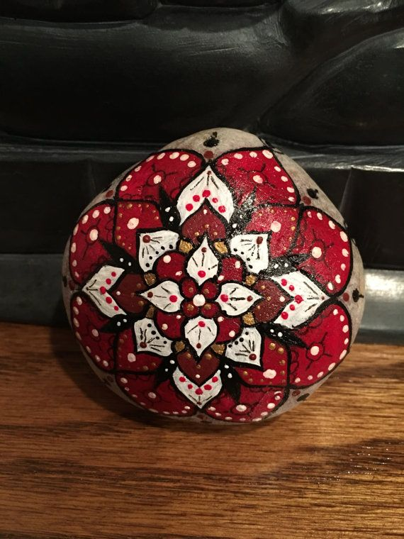 Hand painted stone stone art love and by EmmysHeartsnCrafts