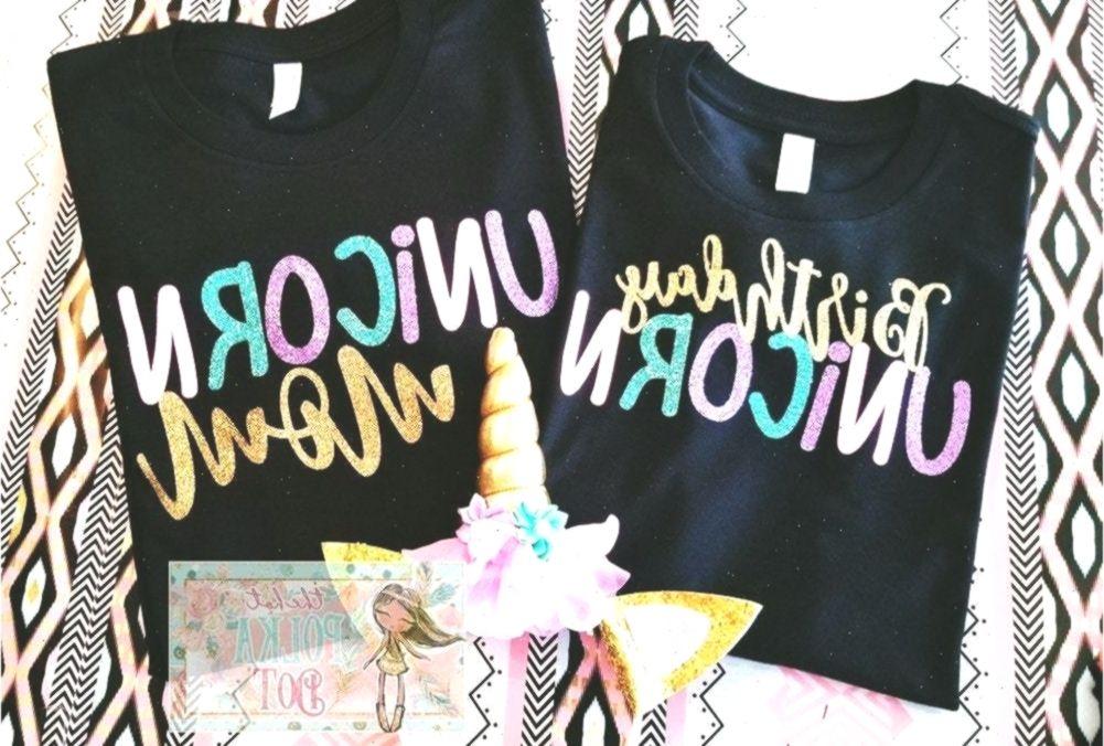 2 Matching Unicorn Birthday Shirts, Birthday Unicorn ...
