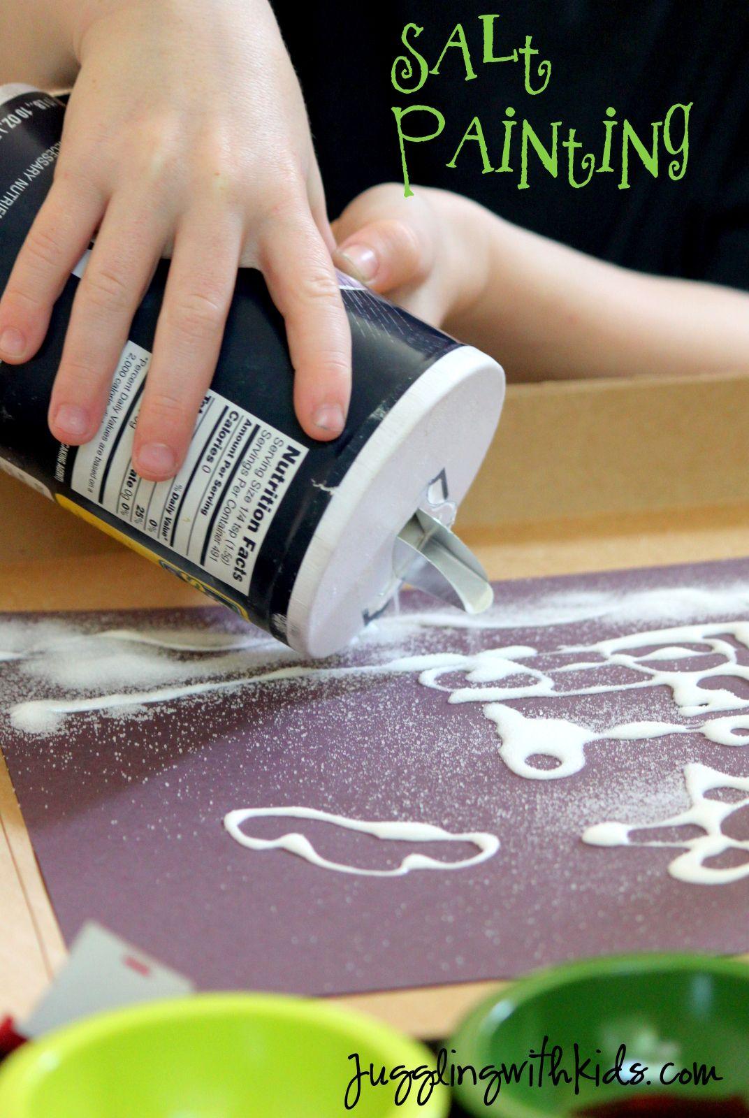 Dibujos con cartulina negra y sal , para fomentar la originalidad en ...