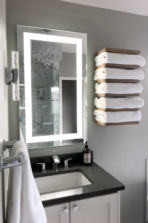 Front Lighted Led Bathroom Vanity Mirror 32 Bathroom Vanity Mirror Bathroom Layout Bathroom Interior