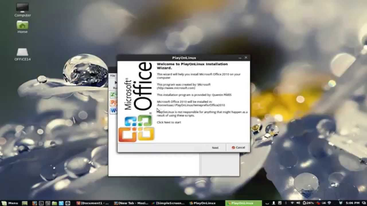 How to Intall and Activate Microsoft Office 2010 on Linux