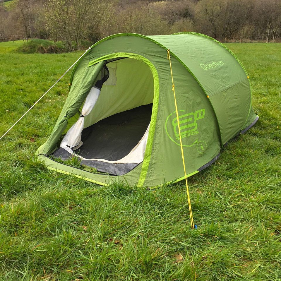 Quechua 2 Seconds 1 Man Popup (Pop up) C&ing / Festival Tent in Sporting : cheap 1 man pop up tent - memphite.com