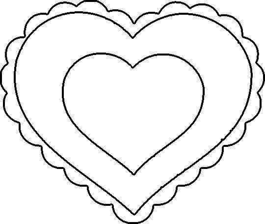 Scalloped Heart Coloring Page with crayon valentines  9 tastic Crafts for Kids template Template and Art cut