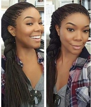 Gabrielle Union On Why She Chose Braids As A Protective Style Braids Micro Braids Hairstyles Micro Braids Styles Single Braids