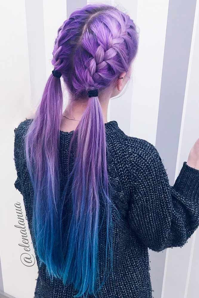 24 Inspirational Ideas To Braid Your Purple Hair | Katy ...