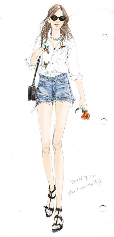 手绘 时装 插画 设计 服装画 pinterest fashion illustrations