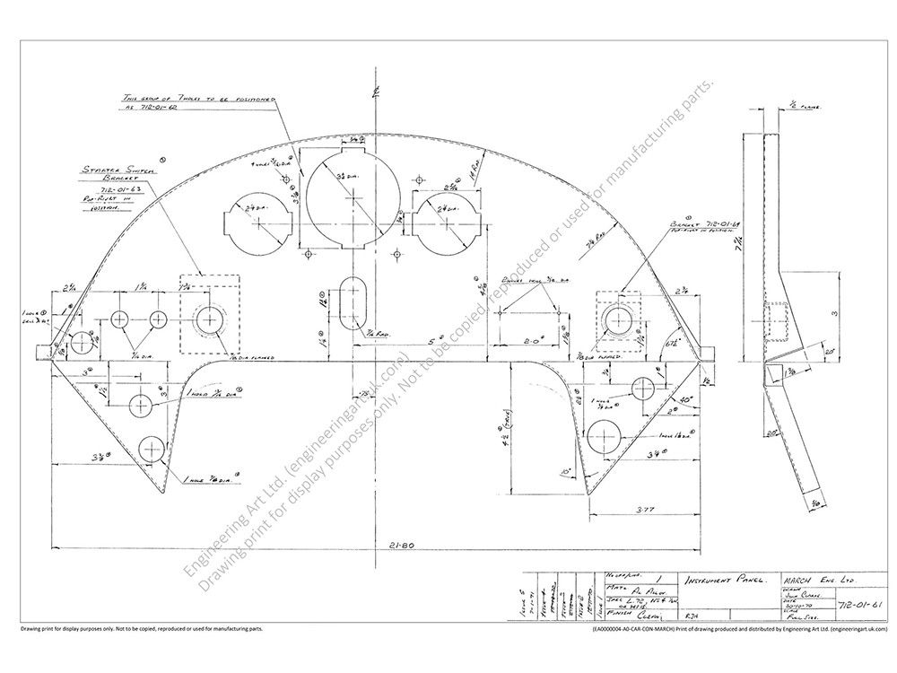 This (512 x 754mm) drawing is printed on an A1 (594mm x