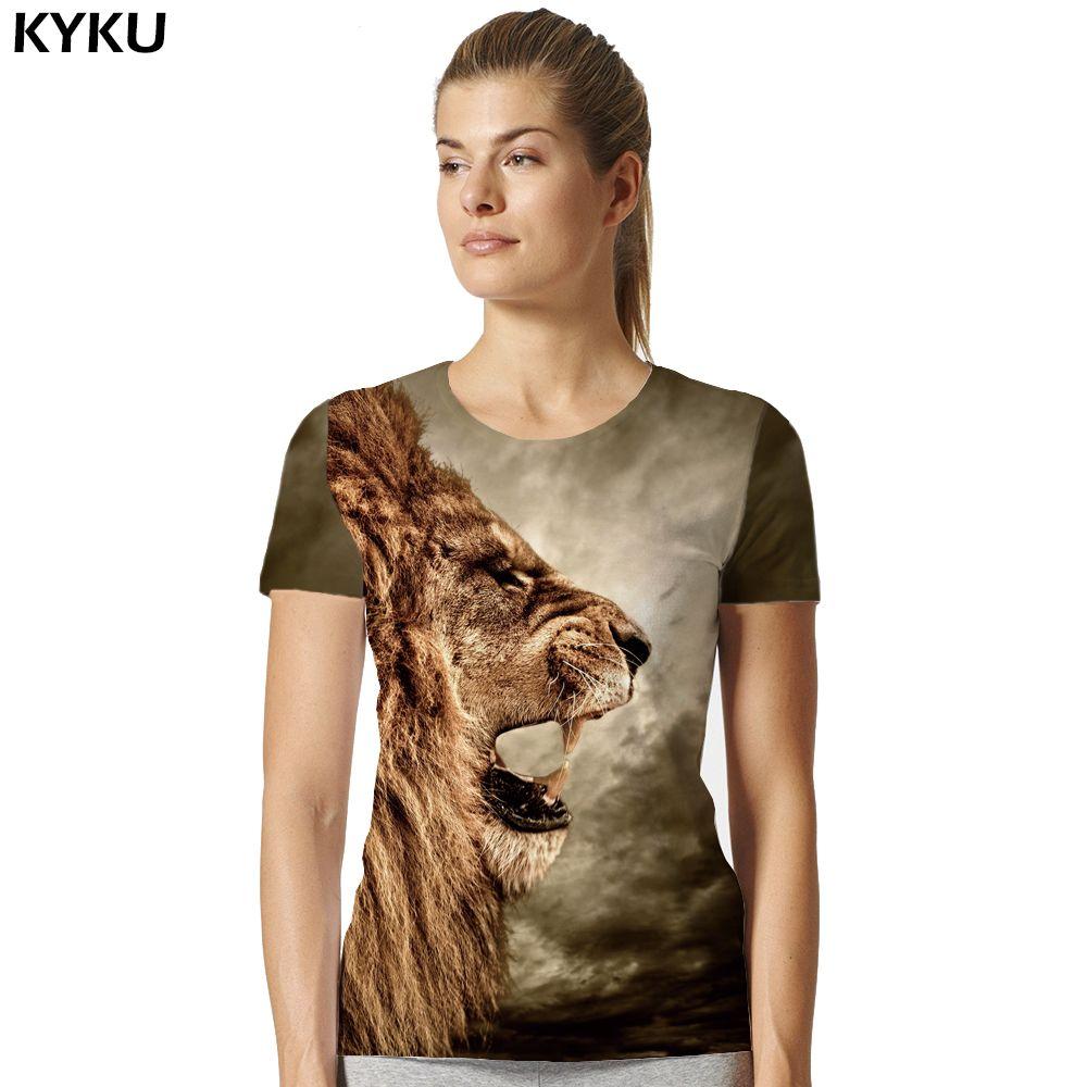 8a0fac7702 Lion T Shirt Universe Sky Galaxy Women Short Sleeve 3d T-shirts Print Anime  T-shirt Animal Womens Brand Clothing 2017 Top Tee  Affiliate