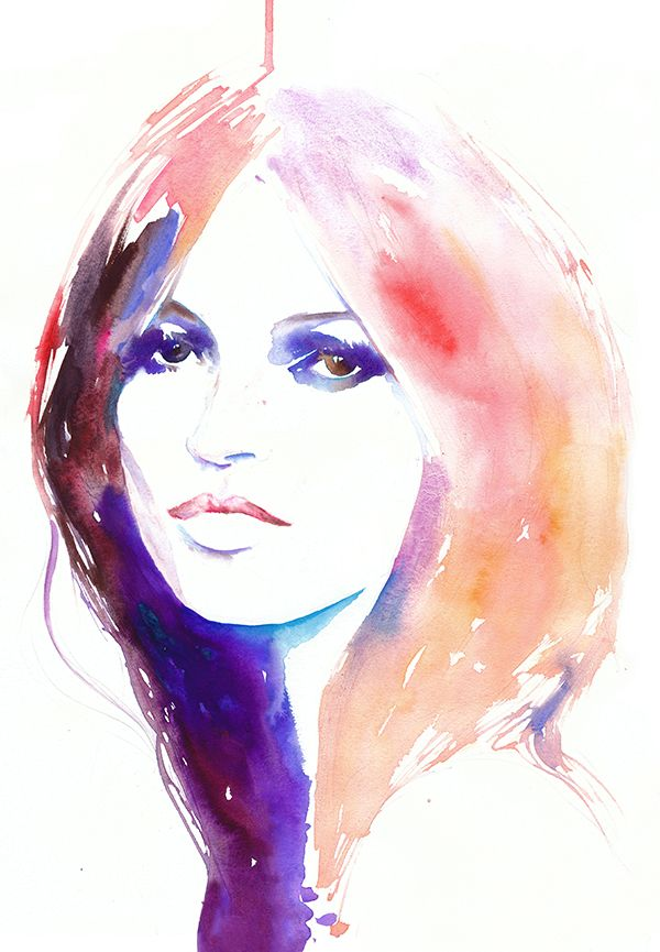 Kate, stunning work by Cate Parr. #watercolor #cateparr