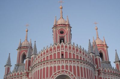 This Gothic church, officially named Church of the Birth of St. John the Baptist, was named after the victory of the Russian navy over Turkey in Chisme Bay.