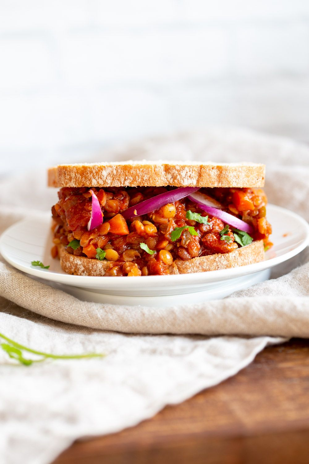 Instant Pot Vegan Lentil Sloppy Joes