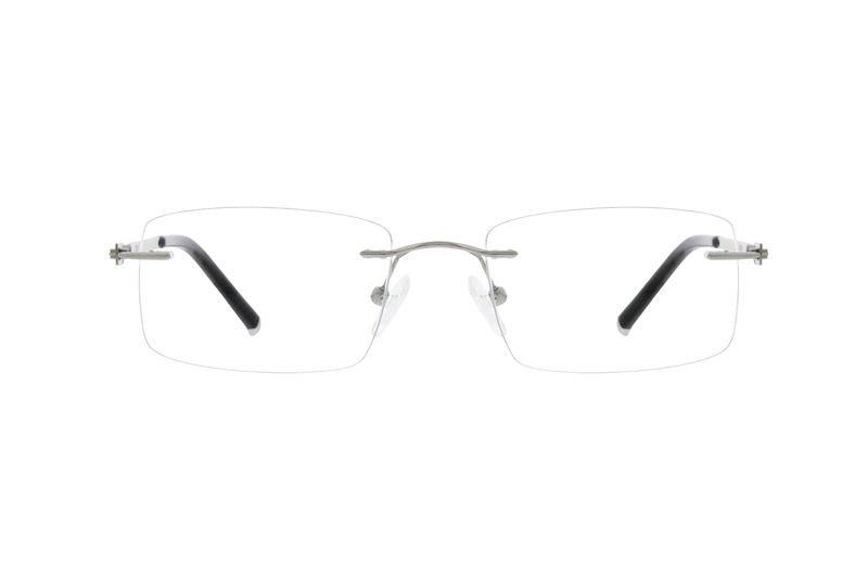 d3fd3f9817 Zenni Rimless Prescription Eyeglasses Silver Titanium 138911 ...
