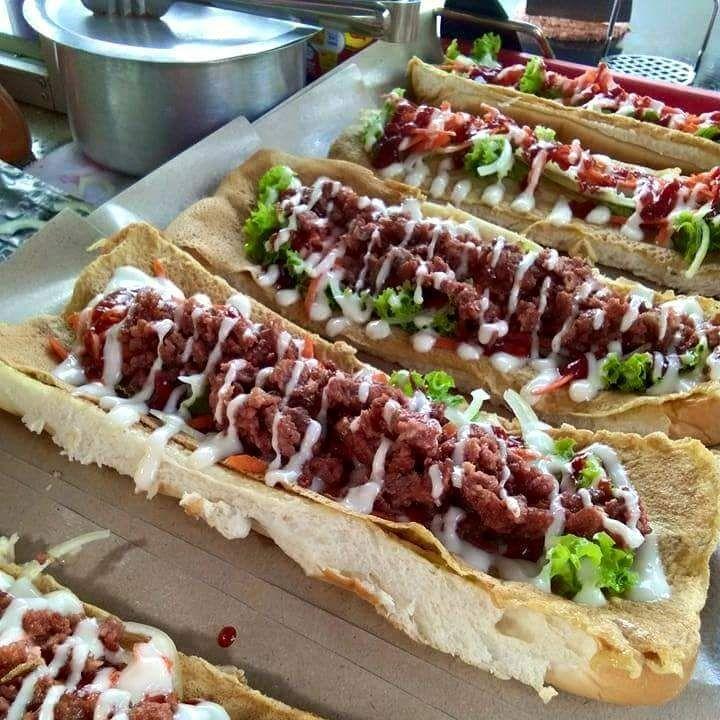 Roti John Inti Menimbun Di Ady Burger Rotis Makanan Dan Minuman Makanan