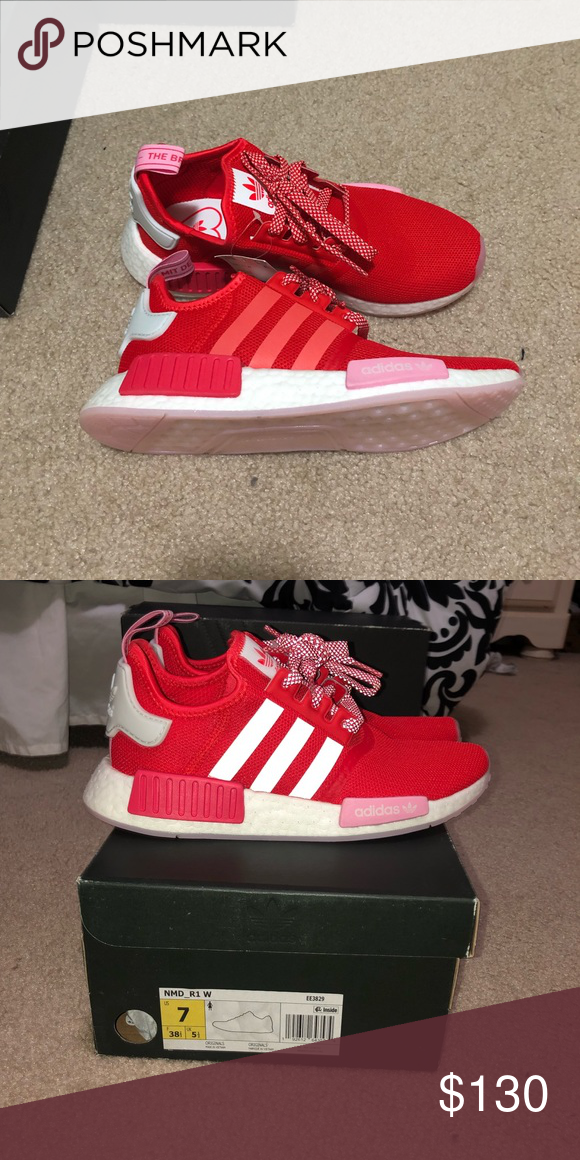 Adidas Women Nmd R1 Brand New Sizes Are All In Womens Red And