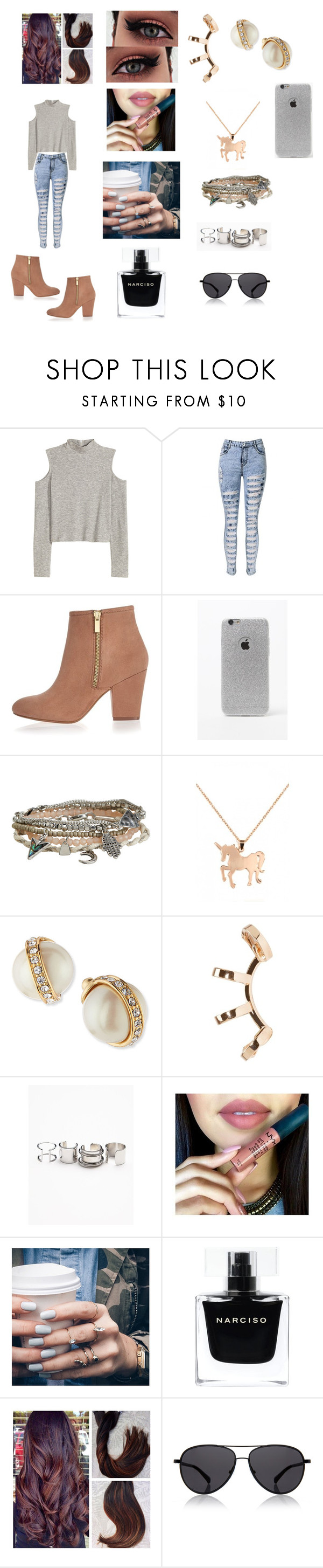 """Finding A New Look"" by roxy-crushlings ❤ liked on Polyvore featuring River Island, LA: Hearts, Aéropostale, Louche, Kate Spade, Repossi, Free People, Floss Gloss, Narciso Rodriguez and The Row"